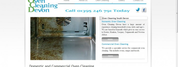 oven cleaning devon - new wordpress website and search engine optimisation by Complete Marketing Solutions, Bideford, North Devon