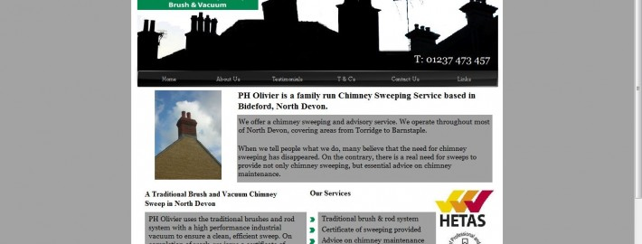 ph olivier bideford new website by Complete Marketing Solutions, North Devon