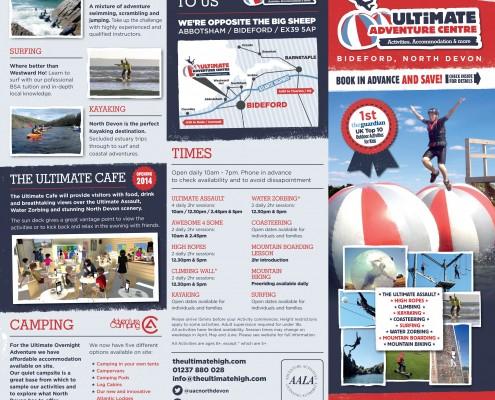 New Leaflet - The Ultimate Adventure Centre Website