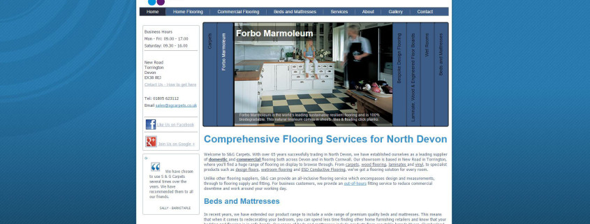 s and g carpets torrington website