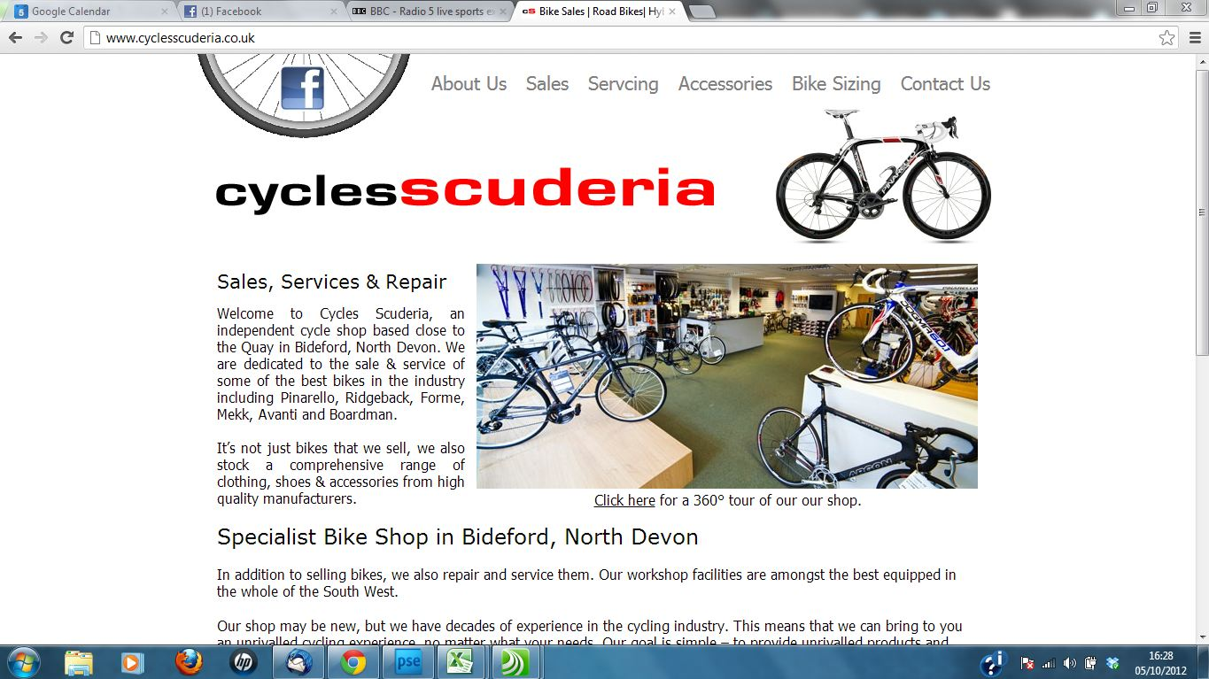 Cycles Scuderia new wordpress website and search engine optimisation by Complete Marketing Solutions, Bideford, North Devon