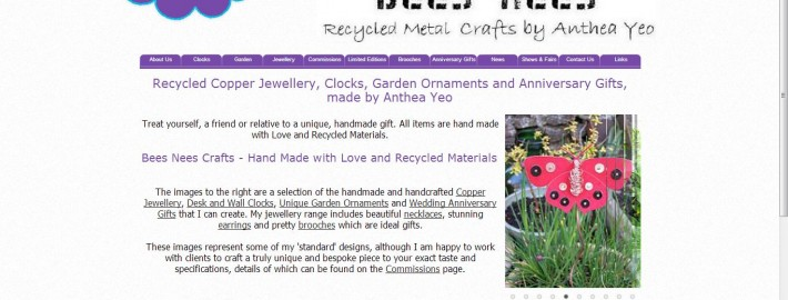 bees nees crafts - new website and search engine optimisation by Complete Marketing Solutions, Bideford, North Devon
