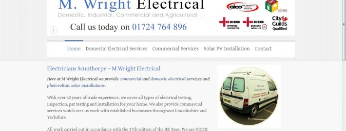 m wright new website by Complete Marketing Solutions, North Devon