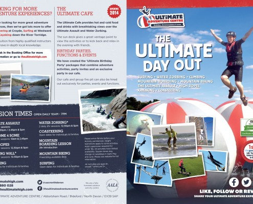 New Leaflet - The Ultimate Adventure Centre Website