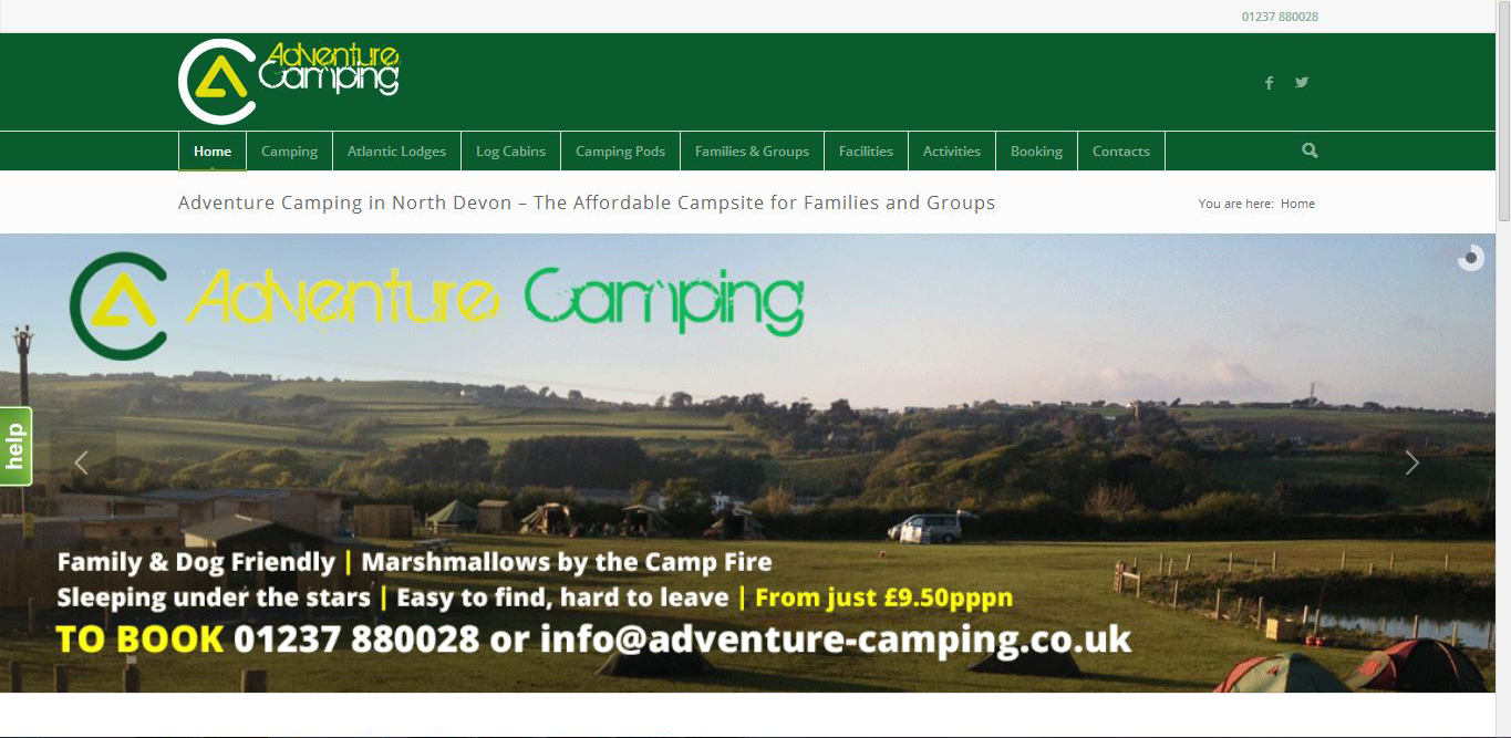 adventure camping - camp site and lodges in north devon. Website by complete marketing solutions