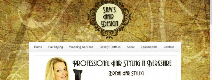 sams hair design website design