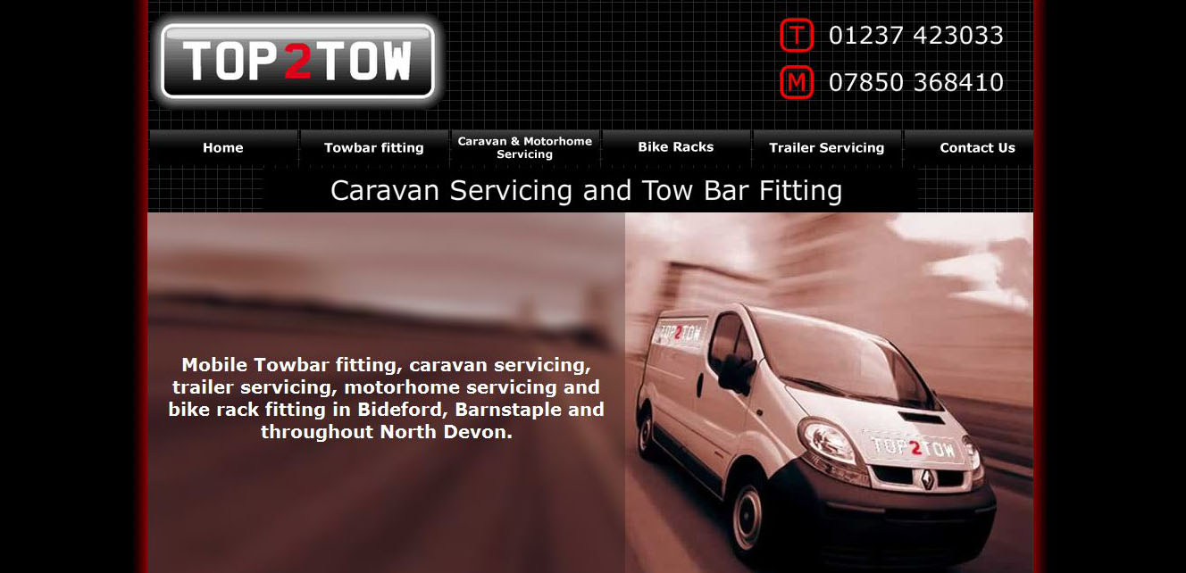 Top 2 Tow before screen grab - Redesigned and optimised by complete marketing solutions in bodeford north devon