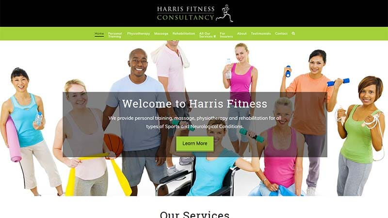 Fitness Company Website Design North Devon