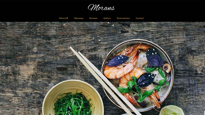Restaurant Website North Devon