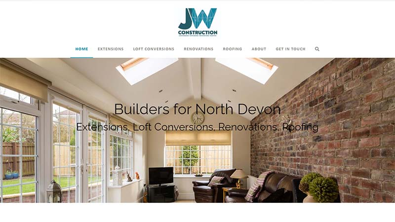 Construction Company Website Design North Devon