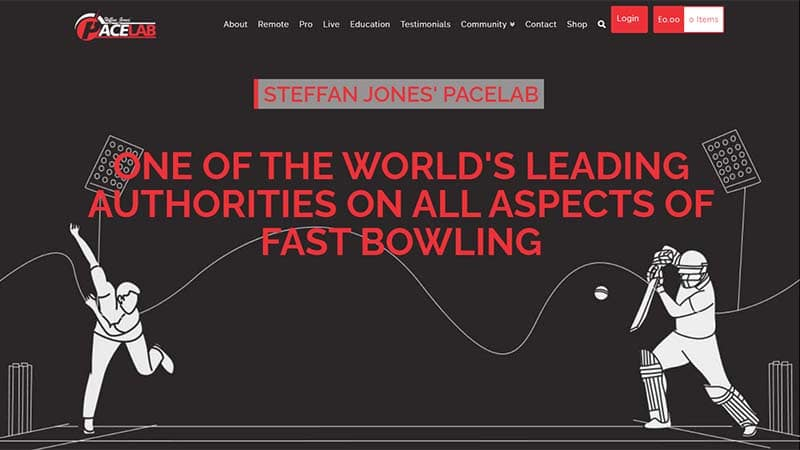 Fast Bowling Coaching E-commerce Website Design Somerset